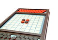 Strategic game othello selective focus Stock Image
