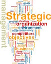 Strategic management wordcloud Stock Images