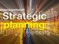Strategický plánování bublina se slovy krabice balíček