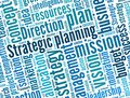 Strategic planning in word collage Stock Photography