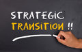 Strategic transition concept on chalkboard Royalty Free Stock Photo