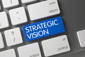 Strategic Vision CloseUp of Keyboard. 3D. Royalty Free Stock Photo