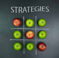 Strategies concept with tic tac toe game Royalty Free Stock Photo