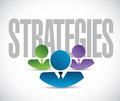 Strategies team sign illustration design graphic over white Stock Images