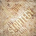 Strategy grunge beige brown wordcloud concept Royalty Free Stock Image
