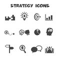 Strategy icons mono vector symbols Stock Photography