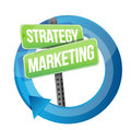 Strategy and marketing illustration design over white Stock Photo