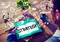 Strategy Online Social Media Networking Marketing Concept Royalty Free Stock Photo