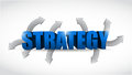 Strategy options concept illustration design over white Royalty Free Stock Images