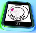 Strategy smartphone means methods tactics and game plan meaning Royalty Free Stock Photography