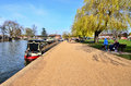 Stratford upon avon riverside image of histortic english town Royalty Free Stock Photos