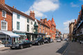 Stratford upon avon street of the old the birthplace of the famous poet william shakespeares uk Royalty Free Stock Photo