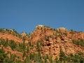 Stratified arid cliffs Royalty Free Stock Photo