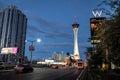 Stratosphere Hotel and Casino at night - Las Vegas, Nevada, USA Royalty Free Stock Photo