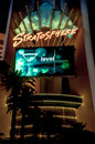 Stratosphere sign of hotel shot in in las vegas nevada Royalty Free Stock Images