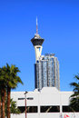 Stratosphere tower on las vegas strip Stock Image