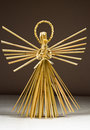 Straw angel Royalty Free Stock Photo