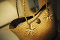 Straw bag a traditional in phuket island tailand a nice accessory for beach Royalty Free Stock Photo