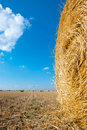Straw bale close up Stock Photo