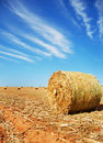 Straw bale on a farm Stock Photos