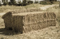 Straw bales in the countryside. Royalty Free Stock Photo