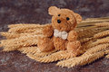Straw Bear Royalty Free Stock Photo