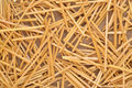 Straw on burlap as background texture Royalty Free Stock Photography