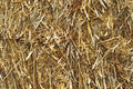 Straw closeup of a square bale Royalty Free Stock Image