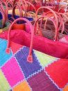 Straw colored bags Stock Photo