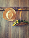 Straw hat Image stock