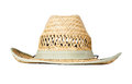 Straw hat isolated on white Royalty Free Stock Photo