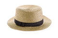 Straw hat isolated on a white background Stock Photos