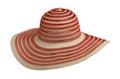 Straw hat  isolated on white background Royalty Free Stock Photo