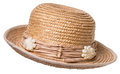 Straw Hat over white Royalty Free Stock Photography