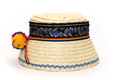 Straw hat traditional romanian isolated on white background Royalty Free Stock Photography
