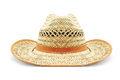 Straw hat on white background Stock Photography