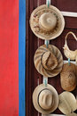 Straw hats Stock Image