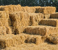 Straw hay bales stack of Stock Photography