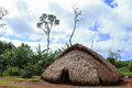 Straw hut in a remote village Royalty Free Stock Images