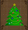 Straw mat Christmas tree Royalty Free Stock Image