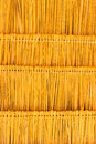The straw roof made from to cover building Royalty Free Stock Photography
