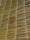 Straw roof texture. Royalty Free Stock Photo