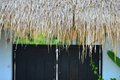 Straw roof in thailand house Royalty Free Stock Photos