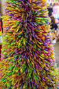 Straw sculpture colorful in free market Stock Photography