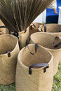 Straw shopping bags Royalty Free Stock Photo
