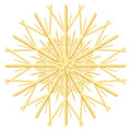 Straw Star Christmas Tree Ornament Royalty Free Stock Photo