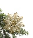 Straw star and fir branch christmas decoration with in white back Royalty Free Stock Photos
