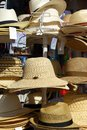 Sun hats for sale, Torremolinos. Royalty Free Stock Photo