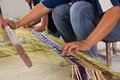Straw weaving Royalty Free Stock Image