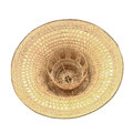 Straw wicker hat isolated on a white Stock Photo